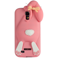 Чехол Moschino Rabbit Розовый для Samsung Galaxy S4 (0490)