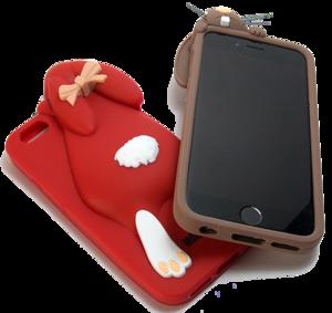 Чехол силиконовый Moschino Кролик для iPhone 6 (0909)