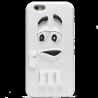 Чехол силиконовый M&Ms для iPhone 6 Белый (0916)