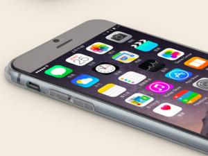 Чехол силиконовый  0.3мм для iPhone 6 Голубой(0888)