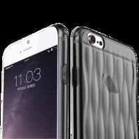 Чехол силиконовый  0.3мм для iPhone 6 Черный(0887)