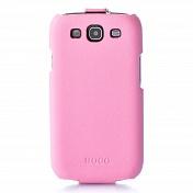 Чехол книжка Samsung S3 Hoco кожа (0398)