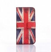 "Чехол-книжка кожа для Samsung Galaxy S4 mini ""флаг Great Britain""(0569)"