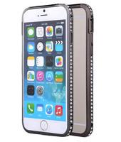 Металлический бампер со стразами для IPhone 6 (0995)