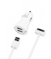 Автомобильное зарядное устройство Deppa Ultra с 2 USB портами для iPad / iPhone / iPod (2100 mA)(0631)