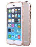 Металлический бампер со стразами для IPhone 6 (0997)