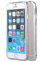 Металлический бампер со стразами для IPhone 6 (0998)