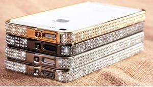 "Бампер для iPhone 4 / 4S ""Silver Diamond"" Со стразами(0784)"