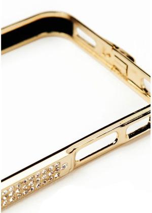 "Бампер для iPhone 4 / 4S ""Silver Diamond"" Со стразами (0084)"