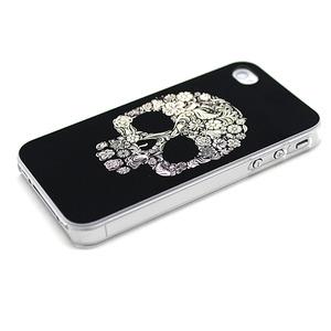 """Чехол для iPhone 4/4S """"Flower Skull"""" (1037)"""