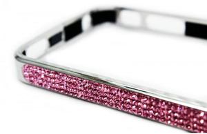"Бампер для iPhone 4 / 4S ""Silver Diamond"" Со стразами (0798)"
