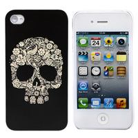 "Чехол для iPhone 4/4S ""Flower Skull"" (1037)"