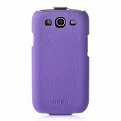 Чехол книжка Samsung S3 Hoco кожа (0402)