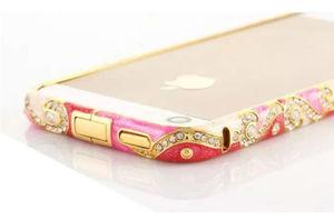 Бампер разноцветный со стразами для iPhone 5S/5 (0795)