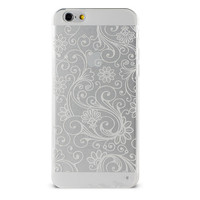 Прозрачный чехол для iPhone 6 с белым узором (0938)